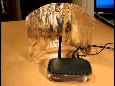 reflector wifi detras router