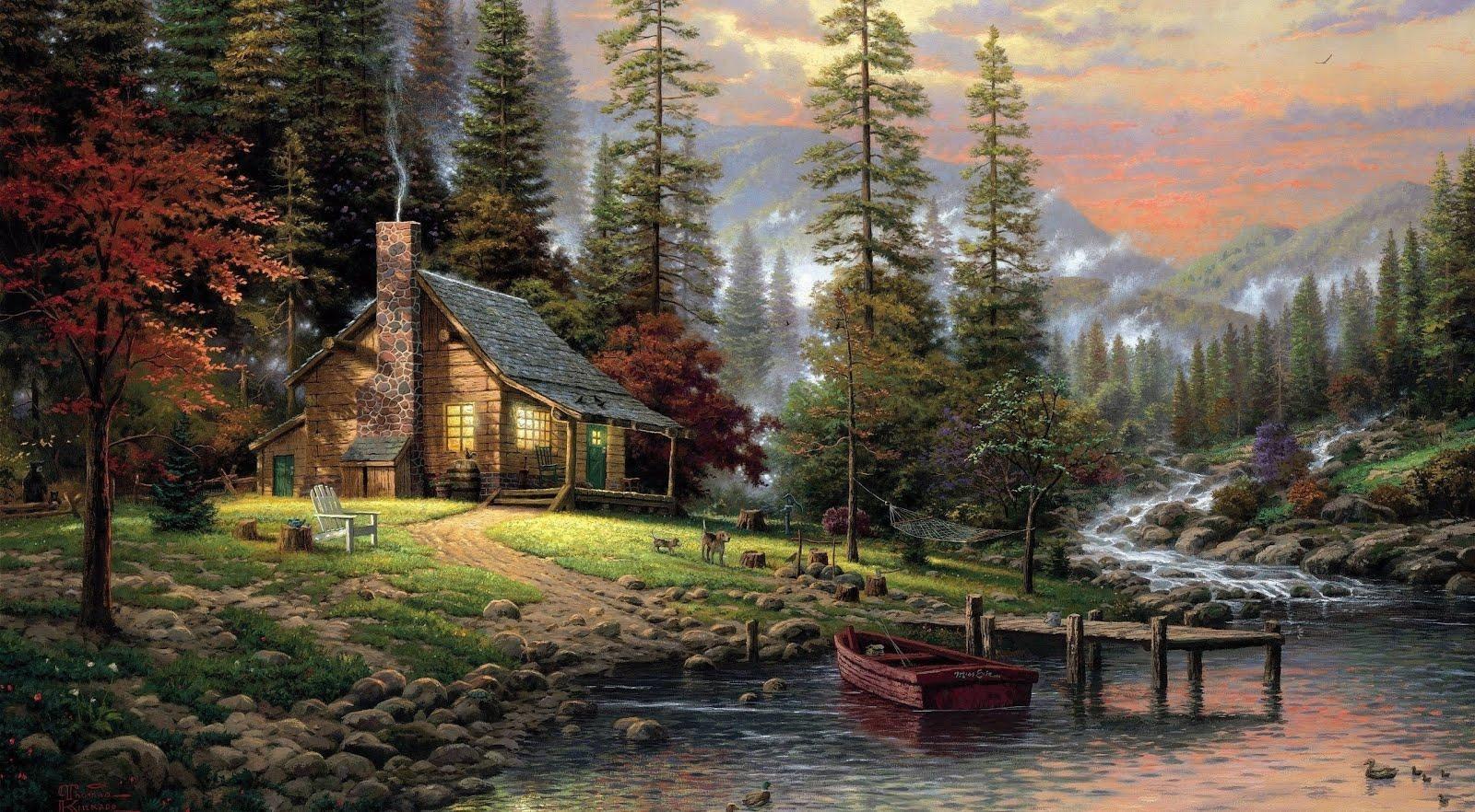 Cabaña junto a río