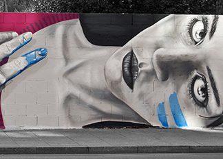 Graffiti en gran vía, Salamanca