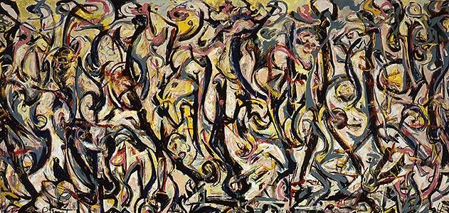 Una de las obras de Jackson Pollock