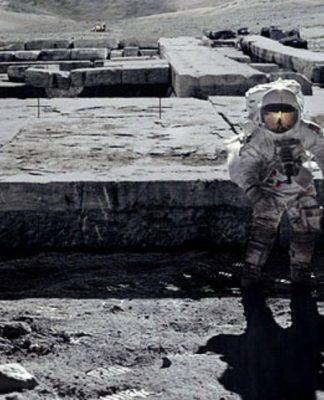 astronauta superficie lunar